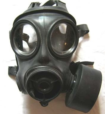 how to put on a gp5 gas mask