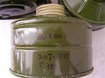 Russian Gas Mask Filter 40mm thread - Soviet Surplus