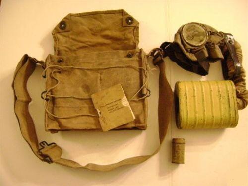 WWI Corrected English Model (C.E. Mask) Gas Mask Set - US ...