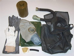 Soviet GP-5 Gas Mask and Accessory Kit