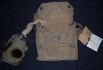 WWl U.S. Army Gas Mask Uniform 2 Patches with Documents