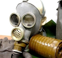 Russian MM1 Tank Radio Operator Gas Mask Kit