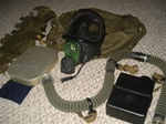 Russian Military Aircrew gas mask kit