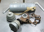 1939 Belgian Military Gas Mask with filter in metal can